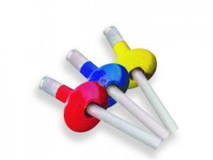 gekleurde popnagel